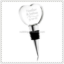 Personality Crystal Heart Wine Bottle Stopper For Wedding Gifts