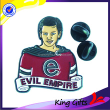 Dyed black evil empire music custom metal lapel pin