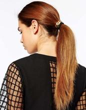 2015 lastest design hair accessories metal chain elastic for women