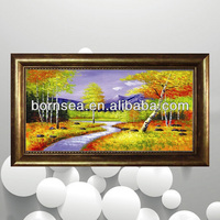 garish colors Group Oil painting framed art wall hanging painting