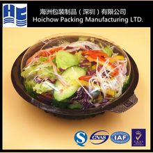 Disposable plastic salad food container packaging