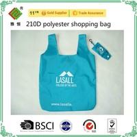 cheap 190T polyester foldable shopping bag, drawstring bags