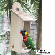 comedero para pájaros de madera