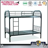 Factory price double decker wrough iron metal beds,industrial metal beds