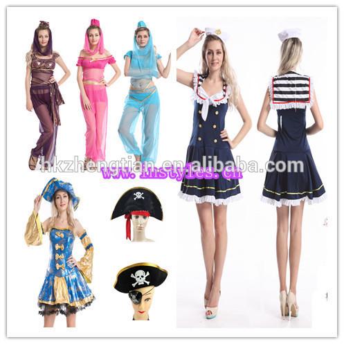 Walson di halloween per adulti rosa signore 1950 grasso bopper costume costume camicia& polka dot gonna set