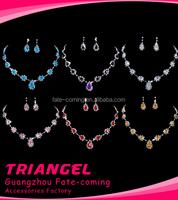 Popular Earring Necklace Wedding Jewelry Set