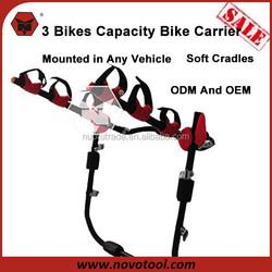 High Quality 3 Bikes Capacity Steel Trunk Mount Rack Bike Rack For Trunk