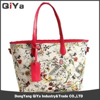 New Fashion Digial Printing Europe And America PU Lady Floral Handbag