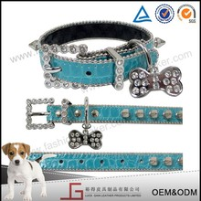 Luckgain durable Genuine Leather Pet Dog Collar ,Puppy Collar Real Leather