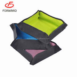 Fabric Folding Collapsible Travel Food & Water Bowl for Pets