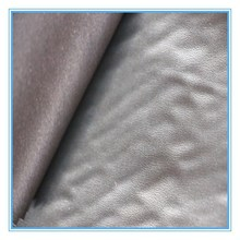 2015 new style PU leather fabric composite cloth fabric for clothing in 100% polyester
