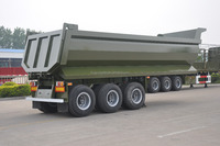china professional design 3 axle rear dump semi trailer with HYVA cylinder U shape