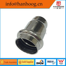 S.S press fittings round tube cap for plumbing