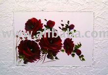 Flowers in texture, acrylic painting, on canvas, handmade , 70x100cm (28x40inc), exclusive brazilian art, Available in various