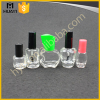 5ml 8ml 10ml 12ml 15ml High Quality Wholesale Design Unique Custom Made Clear Empty Glass Nail Polish Bottle With Cap