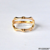 Gold Plated Bamboo Joint Shaped Ring