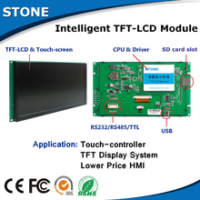 7 inch monitor touch controller RS485/232, lcd display frame