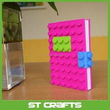 Custom newest design silicone book cover ,A5/A6 size silicone notebook cover