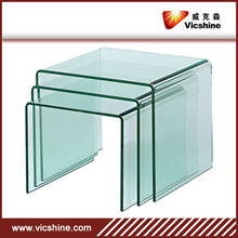 Cheap 4mm 5mm curved furniture glass/curved glass/ furniture glass for table,home decor,bathroom