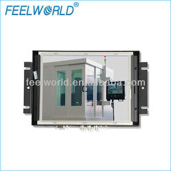Metal housing 8inch industrial lcd display with touch screen ,VGA,HDMI