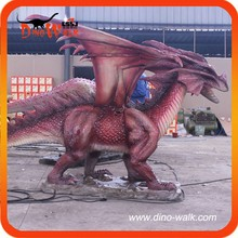High Quality Emulation Realistic Animatronic Prehistoric West dragon