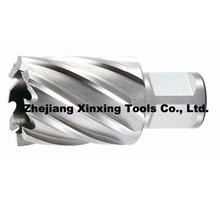 High speed steel weldon shank core drill bit