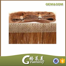 silky light color brazilian remy hair pu /skin weft products