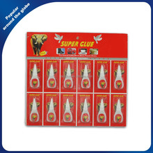 502 Cyanoacrylate Adhesive Super Glue 5g in Plastic Bottle 12 PCS / card