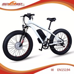 Sobowo S19 White Front Suspension approved Fishing Electric Bicycel with 130-150 km long range