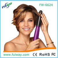 Electric lcd temperature straightening hair brush