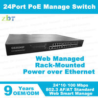 24 ports desktop L2 PoE switch