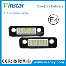 E4 CE RoHs certificates Factory Supply led license plate lamp for mendeo mk2, led registration light for fusion
