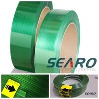 Green PET made split resistance sample avaliable plastic packing strip for pallet
