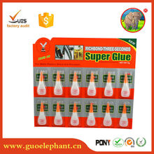 plastic rubber metal wood leather instant adhesive super glue 502