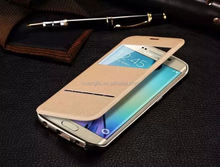 classic soft flip cover for samsung s6 edge factory price