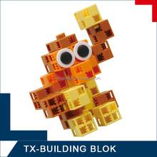 smart block set - children plastic animal building block
