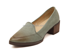 2015 England retro pointed women flat shoes casual loafers leather boat shoe