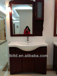 Oak wood bathroom vanity mirror cabinet for house building project