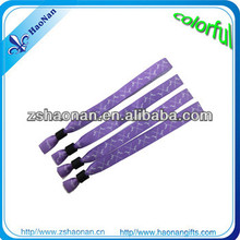 Custom promotional woven textile charm fabric bracelets for activity