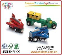 De madera de los niños pequeños coches de juguete, juguetes del coche de los niños