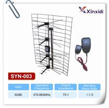 High gain outdoor CKD packing amplified uhf yagi directional antenna