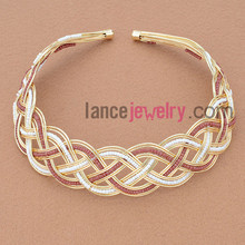 Wholesale Colorful Classic Iron Thread Weaving Hair Band New Fashion