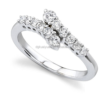 Wholesale hot sell silver ring designs women 2012 with diamond