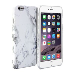 FOR iPhone 6 Plus Case - Hard Case phone Print Crystal - White Marble Pattern Cover