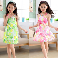 VF303 Factory price printed teen girls party dress