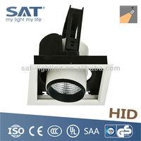 TUV CE HID Lamp Recessed Square Grill Fluorescent Light Fixture Strobe Down Light