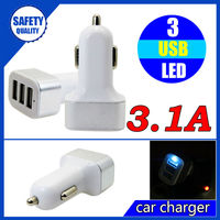 Original new fancy 3 in 1 micro usb electric 2015 5v 3a car charger