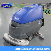 Batteried low niose walk behind floor cleaning scrubber, CE approved for hotel school