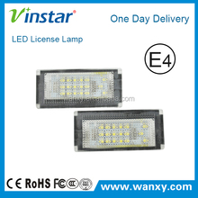 High power MINI cooper led license plate lamp for BMW car