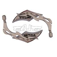BJ-RM-005 Top quality aluminum diamond style flame stem mirror motorcycle
